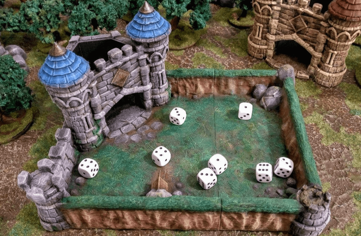 Dungeons and Dragons Medieval Dice Tower