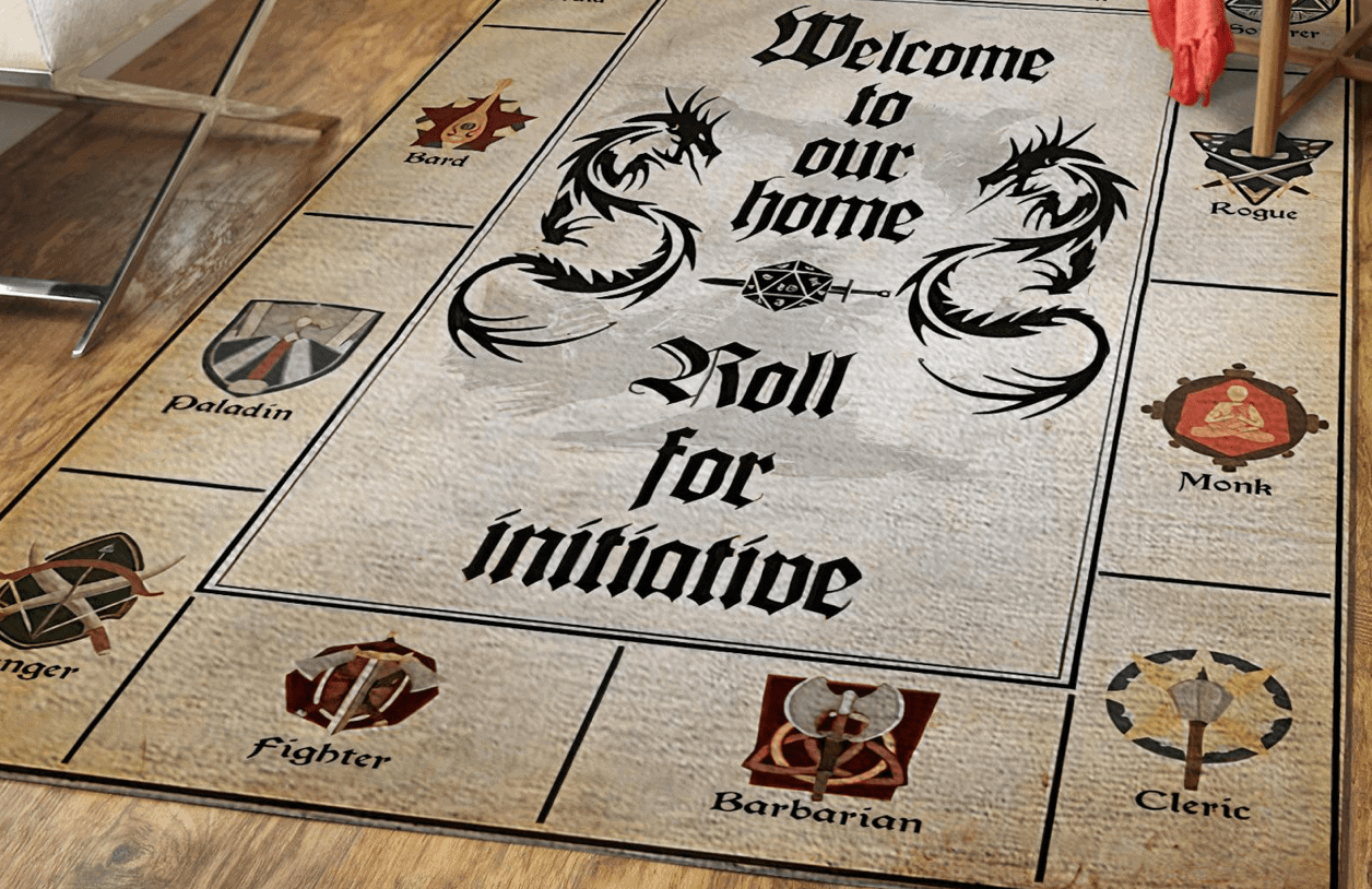 Dungeons and Dragons Home Welcome Rug