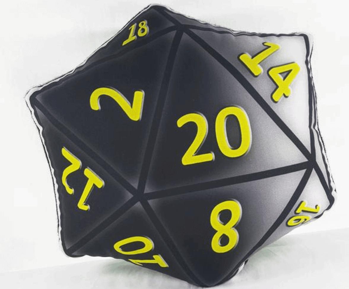 D&D Cushion Geek Polyhedral Dice Pillow