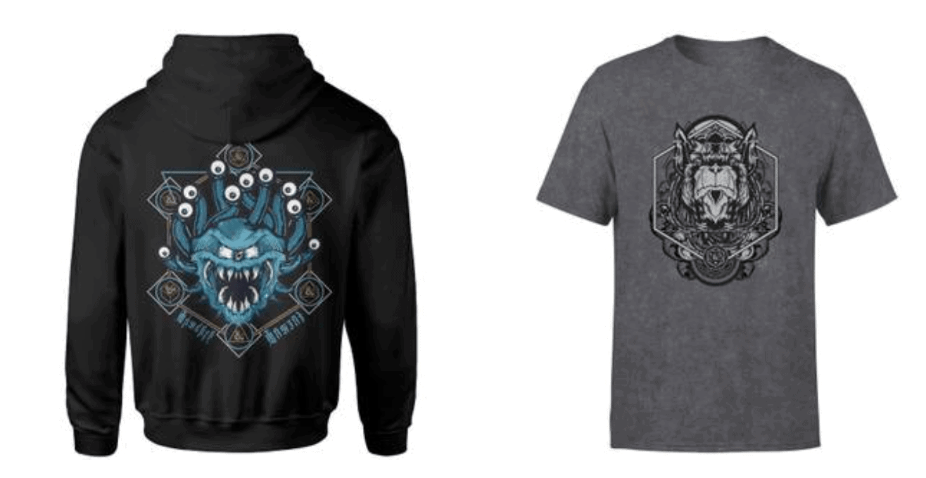 Zavvi Dungeons and Dragons Hoodies & Tees