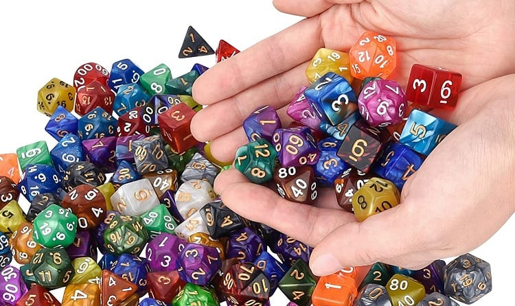Dungeons and Dragons Game Dice