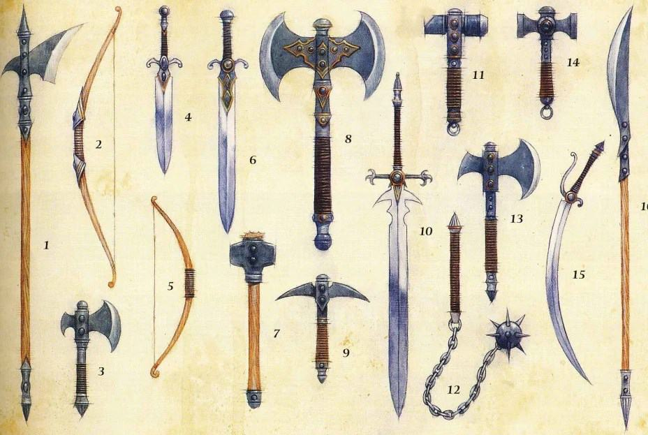 DnD Weapons Guide